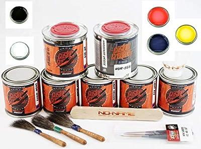 Custom Creative Lettering Enamel-Pinstripe Urethane Paint Starter Set 2 with Bonus by SprayGunner