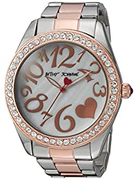 Betsey Johnson Women's BJ00249-39 Two-Tone Case and Bracelet Watch