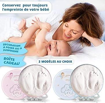 Pas de cuisson Kit de moulagedempreintes Pied//Main Facile dutilisation Plusieurs essais possible Moulage Empreinte bebe Fille 100/% sur pour bebe