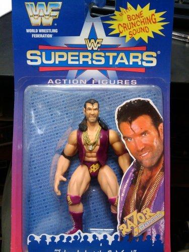 Jakks Pacific WWF Superstars Razor Ramon Action Figure with Bone Crunching Sound ()
