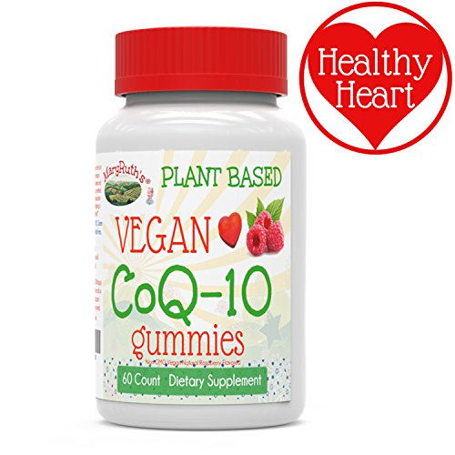 MaryRuth's Vegan CoQ10 Gummies Plant-Based Non-GMO Paleo Friendly Antioxidant Gluten Free Metabolism Dietary Supplement for Men, Women & Children 60-Count 120mg per serving (2 gummies)