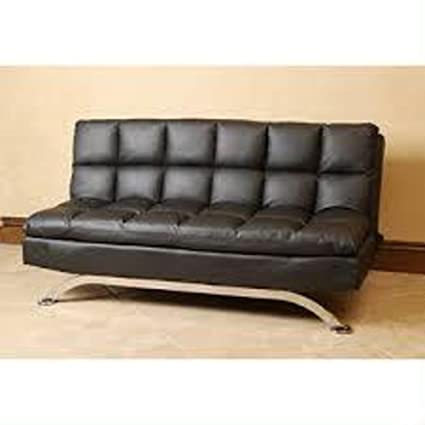 Leather Euro Style Sofa Bed Lounger Couch  Convertible Futon   Contemporary/Modern  Furniture For