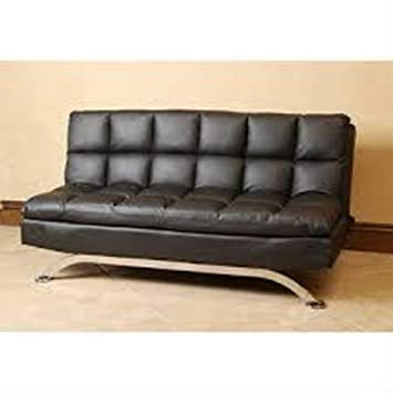 Amazon.com: Leather Euro Style Sofa Bed Lounger Couch ...