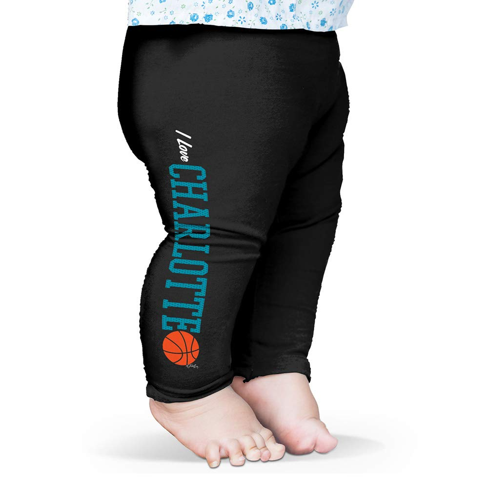 TWISTED ENVY I Love Charlotte Basketball Baby Funny Leggings Trousers