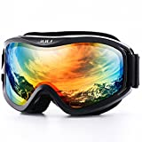 Juli Ski Goggles,Winter Snow Sports Snowboard Over Glasses Goggles with Anti-Fog UV Protection Double Lens for Men Women & Youth Snowmobile Skiing Skating
