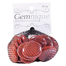 Gemnique Glass Gems, Large, Electric Fire Brick Red