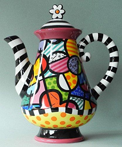 Romero Britto Ceramic Teapot, Flowers