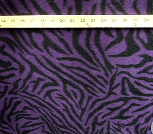 Zebra Print Fabric By The Yard (Polar Fleece Fabric Prints Animal PrintPurple Zebra / 60