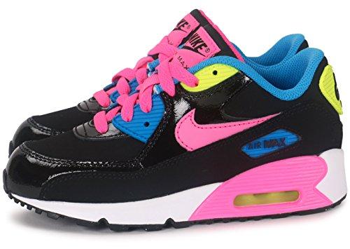 09a555414 ... Nike Air Max 90 Mesh (PS) - Zapatillas de Deporte Niñas Negro   Rosa ...