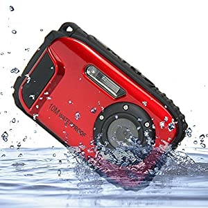KINGEAR KG003 2.7 Inch LCD Cameras 16MP Digital Camera Underwater 10m Waterproof Camera+ 8x Zoom--Red