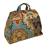 Large Deluxe Mary Poppins Victorian Carpet Bag (Green)