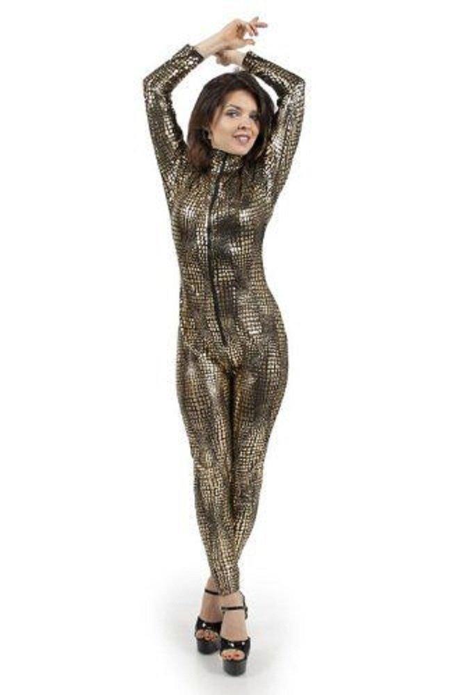 Sexy Bronce Snakeprint cartucho malla Mono Pelele Club Wear ...