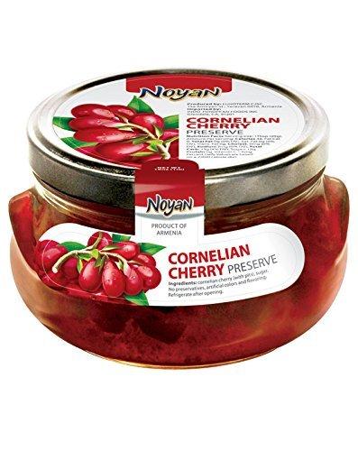 Noyan Preserve Cornelian Cherry 1 Lb. 100% Organic (Kosher) Armenia