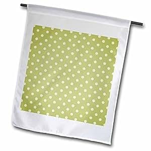 Anne Marie Baugh Polka Dots - Moss Green Polka Dot Pattern - 12 x 18 inch Garden Flag (fl_44219_1)