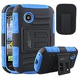 lg 305c phone case - LG 306G Case Holster Combo - Armatus Gear (TM) Tactical Hybrid Armor Case and Holster Combo For LG 306G / LG 305C (TracFone / NET10 / StraightTalk) - Blue