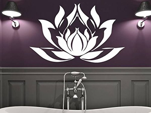 Wall Decal Vinyl Sticker Decals Mandala Namaste Lotus Flower Indian Lotus Yoga Wall Stickers