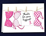 Breast Cancer Awareness Pink Ribbon Thank You Cards (1 Pack of 12 Cards - Retail)
