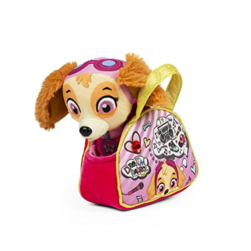 (Nickelodeon Girls Purple Paw Patrol Girl Dream Handbag with Plush Skye Toy)