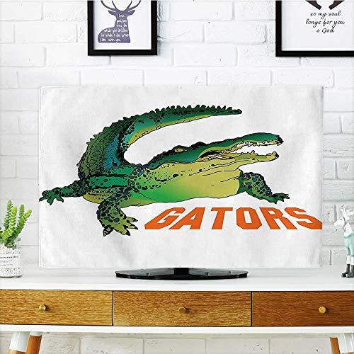 Jiahonghome Front Flip Top Grumpy Alligator Has A Word Gator Crocodile Humor Wild Life Safari Aquatic Print Front Flip Top W36 x H60 INCH/TV - Gator Car Remote Control