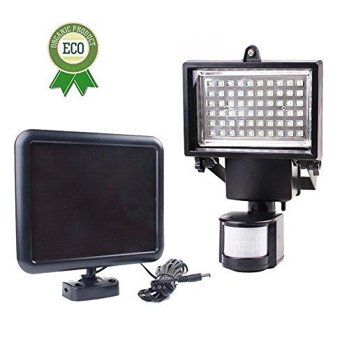 LED Solar Motion Sensor Light Security Light Floodlight 60 LED for Wall , Patio, Garden, Landscape, Deck, Shed, Lawn
