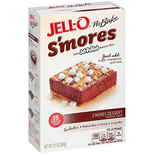 JELL-O No Bake S'mores Dessert Kit (10.1 oz Box)