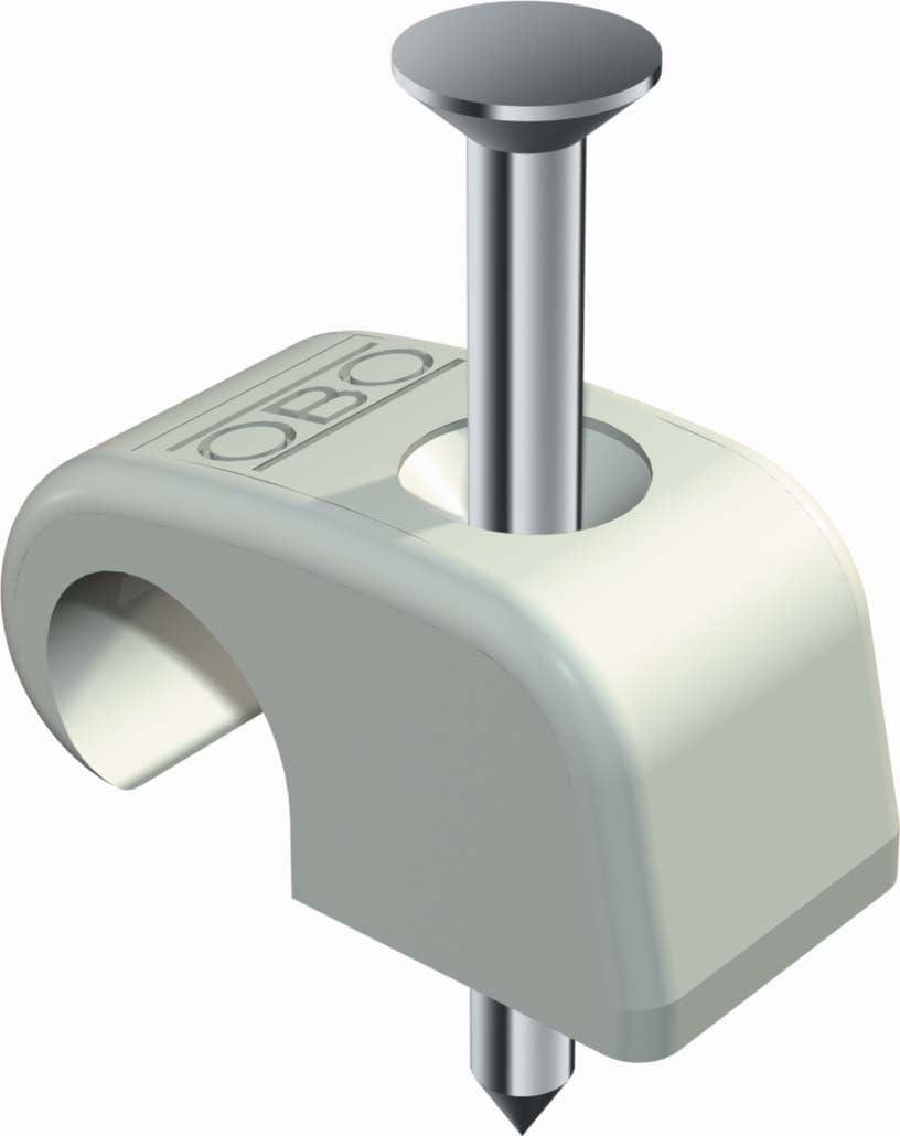Weiß 12 mm 10 100 x Nagelschelle Nagel Schelle Kabelschelle Nagelklemme ø 7