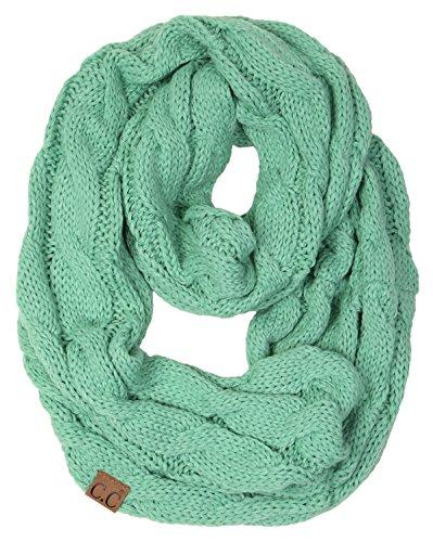 Foam Knit Glove - S1-6100-62 Funky Junque Infinity Scarf - Seafoam