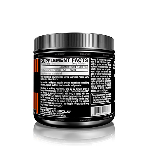 Kaged Muscle Creatine HCl​ ​Unflavored 75 Servings,​ ​​Patented Creatine Powder Made in the USA​​