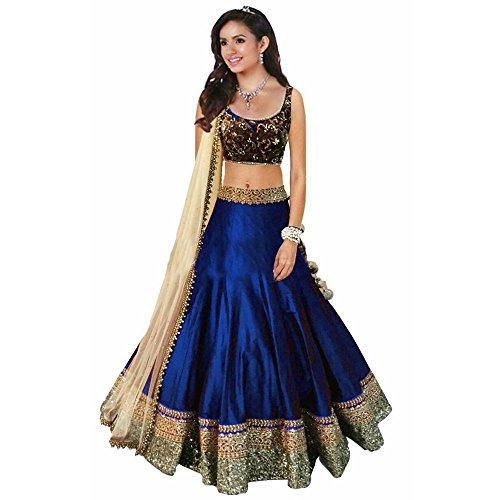 Radhika Fab Royal blue Georgette Semi-Stitched Lehenga Choli (Lehenga Choli)