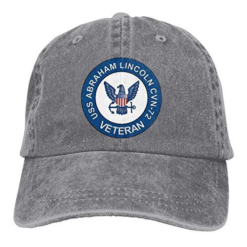Chengduyacap USS Abraham Lincoln CVN-72 Veteran Dad Hat Denim Baseball Cap Adjustable Polo Trucker Unisex Style Headwear