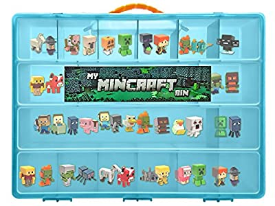 My Mincraft Bin Storage Case with Carrying Handle for Minecraft Mini Figures