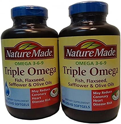 Amazon Com Nature Made Triple Omega 3 6 9 Fish Flaxseed
