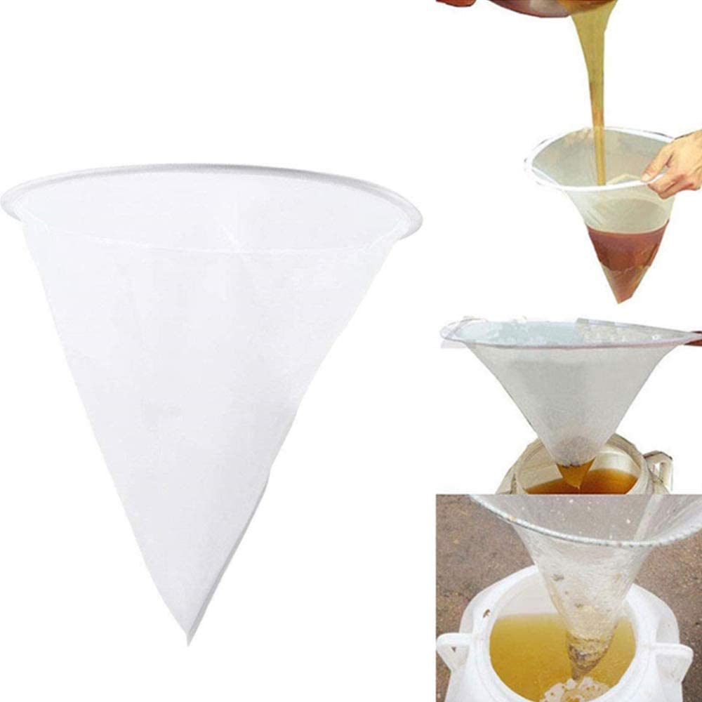 Nuluxi Fine Mesh Honey Strainer Honey Filter Strainer Net Beekeeping Honey Sieve Net Grids are Uniform and Fine Filtration Effect is Good Suitable for Bee-Keeping Kitchen and Other Occasions Using