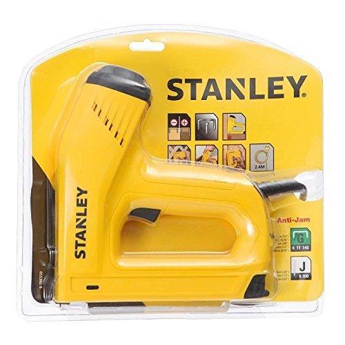 Stanley Elektrotacker und Nagler, für 12/15mm Nägel und Klammern Typ G 6/8/10/12/14mm, Tiefenanschlag, 6-TRE550