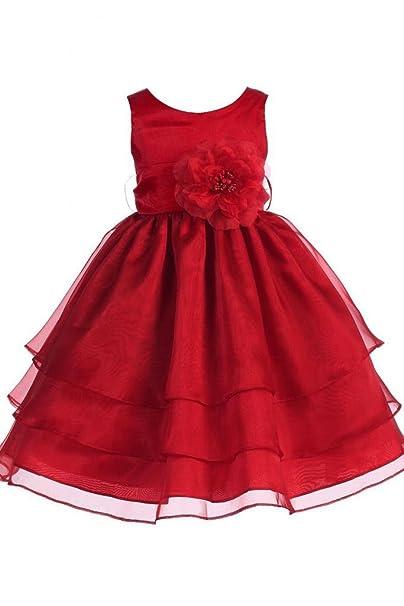 sunvary Princesa Flor de a-line vestidos de niña Little Girl novia de organza de raso y albornoz: Amazon.es: Ropa y accesorios