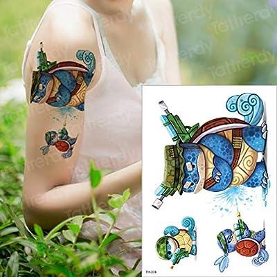 adgkitb 3 Piezas Tatuaje Temporal a Prueba de Agua Dibujos ...