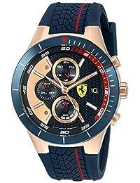 Ferrari 830297 'RED REV EVO CHRONO' Quartz Gold and Silicone Watch