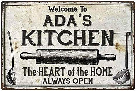 Amazon Com Chico Creek Signs Ada S Kitchen Farmhouse Sign 8