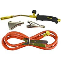 Gas Torch Burner 2m Hose Regulator Roofer Plumber Weed Kit Propane Butane TE389 by AB Tools