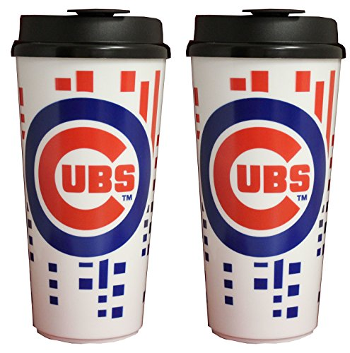 - The Memory Company Chicago Cubs 32oz Single Wall Travel Mug 2 Pack