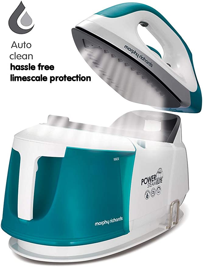 Morphy Richards Steam Generator Iron 332014 Power Steam Elite with Auto Clean and Safety Lock Morphy Richards Steam Generator Iron Green/White [Energy Class A]