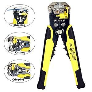 Alicates cortadores de cables autoajustables, 3 en 1, multiherramienta, 10 – 24 AWG (0,2~6,0 mm²)