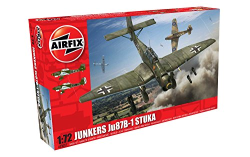 Airfix A03087 Junkers JU87B-1 Stuka 1:72 Military Aircraft Plastic Model Kit