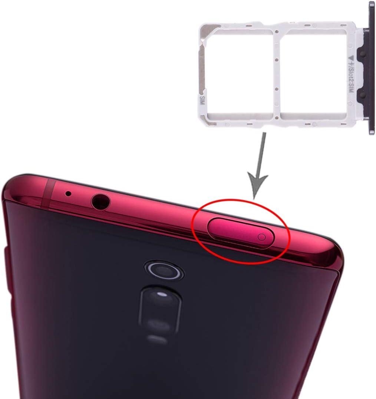 Lin-L La Bandeja de Tarjeta SIM Bandeja de Tarjeta SIM + para Xiaomi redmi K20 / K20 Pro / 9T / 9T Pro (Negro) Piezas de Repuesto (Color : Black)