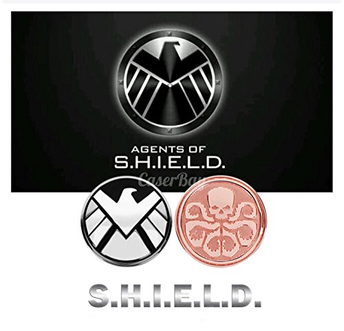 [CaserBay] 2 Pack 3D Marvel S.H.I.E.L.D. Metal Badge Motorcycle Car Sticker Logo Emblem Decals Decoration For Car Styling (Shield & Hydra)