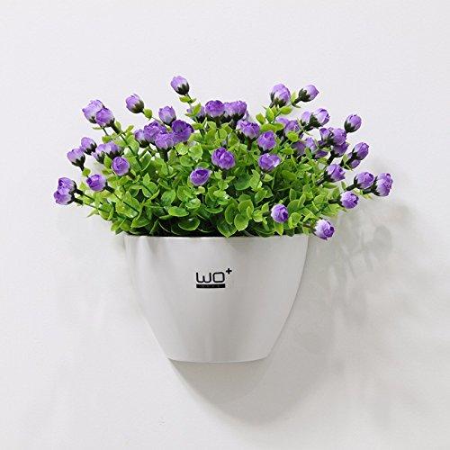 Lcoran Flores Artificiales Planta Establecida Macetas Baño