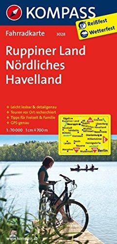 Ruppiner Land - Nördliches Havelland: Fahrradkarte. GPS-genau. 1:70000 (KOMPASS-Fahrradkarten Deutschland, Band 3028)