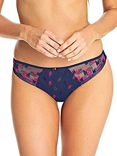 Freya Womens Cosmic Brazilian Panty, M, Indigo - Freya Mesh Panties