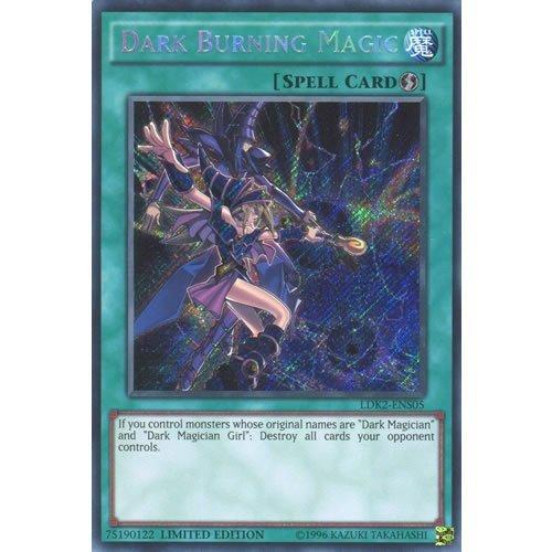 YuGiOh : LDK2-ENS05 Limited Ed Dark Burning Magic Secret Rare Card - ( Yu-Gi-Oh! Single Card ) by Deckboosters