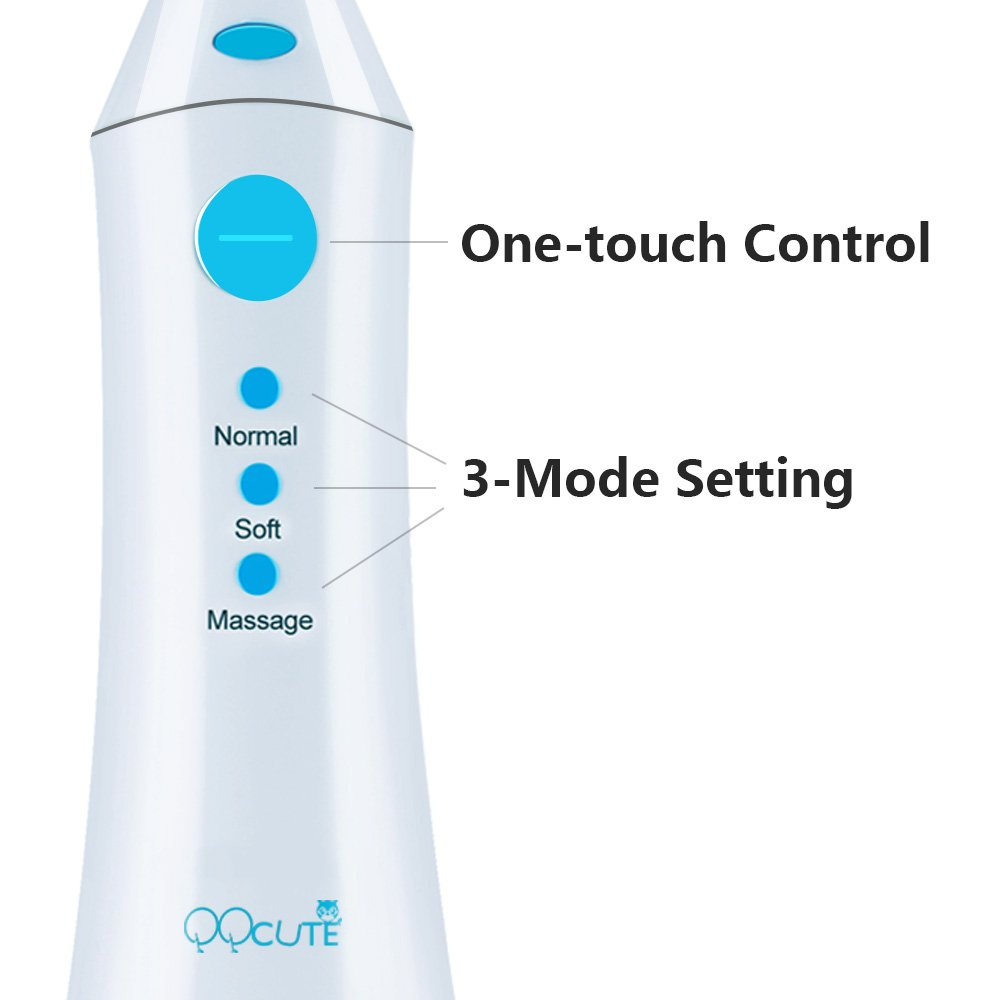 QQcute Water Flosser Cordless Oral Irrigator - IPX7 Portable Rechargeable Tooth Cleaner Whitening With 3 Modes Dental Water Jet Tips, Travel and Home Use by QQcute (Image #6)